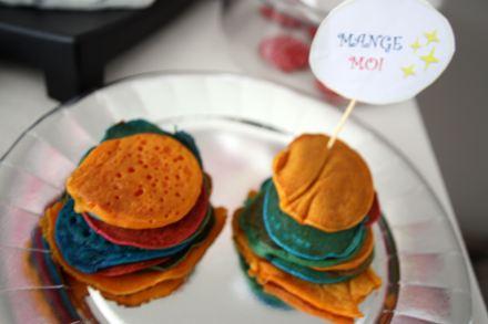 Pancakes magiques colorées