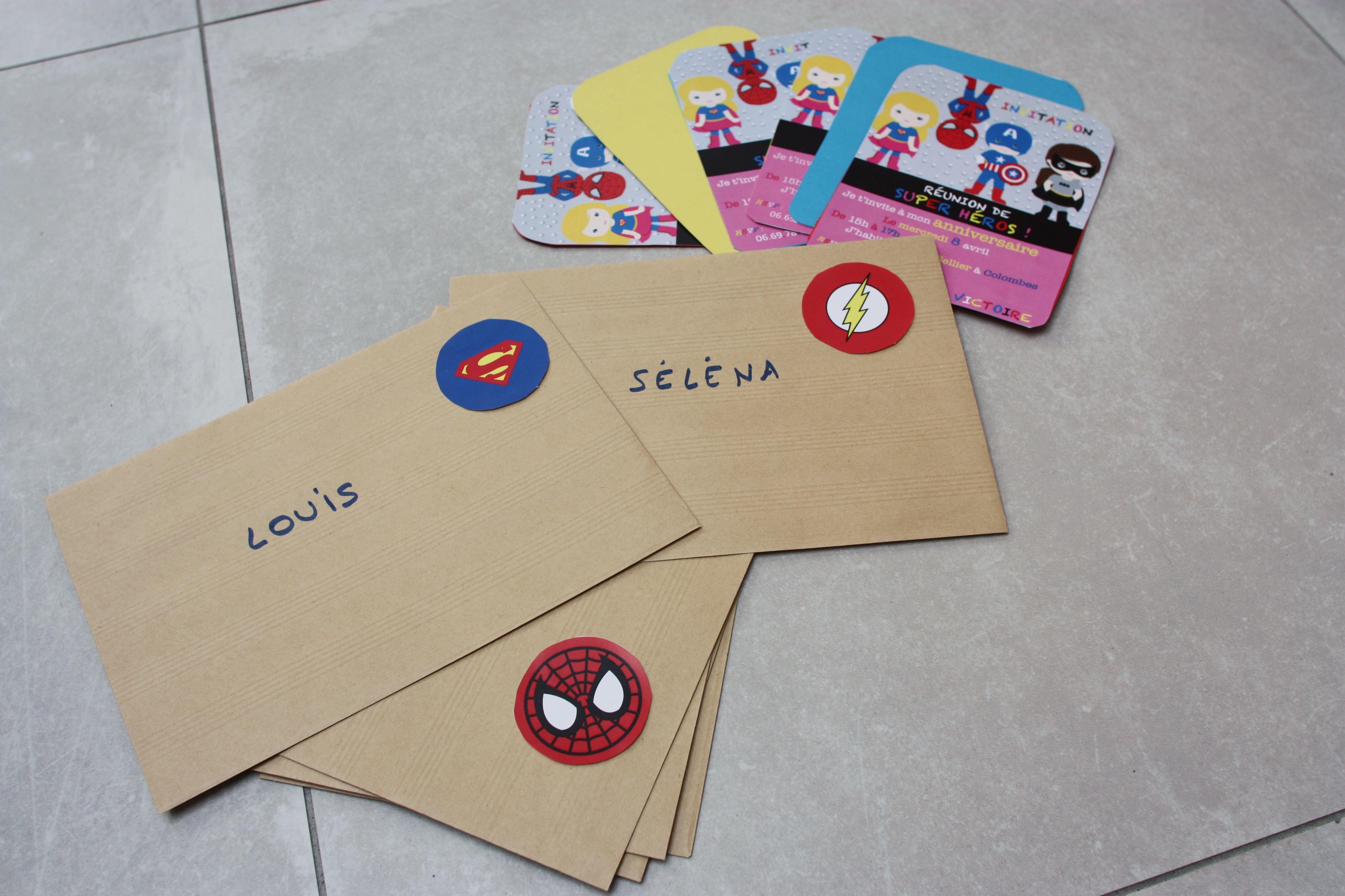 La r union de super h ros l invitation we simply enjoy - Carte anniversaire super heros ...