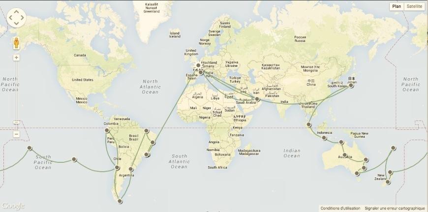 Itinéraire tour du monde en famille