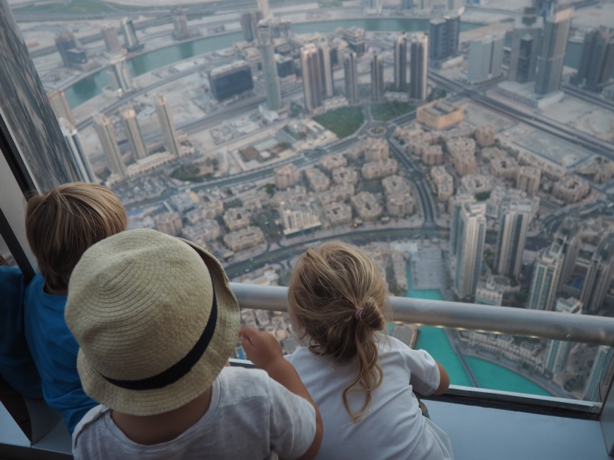 At the top  burj khalifa