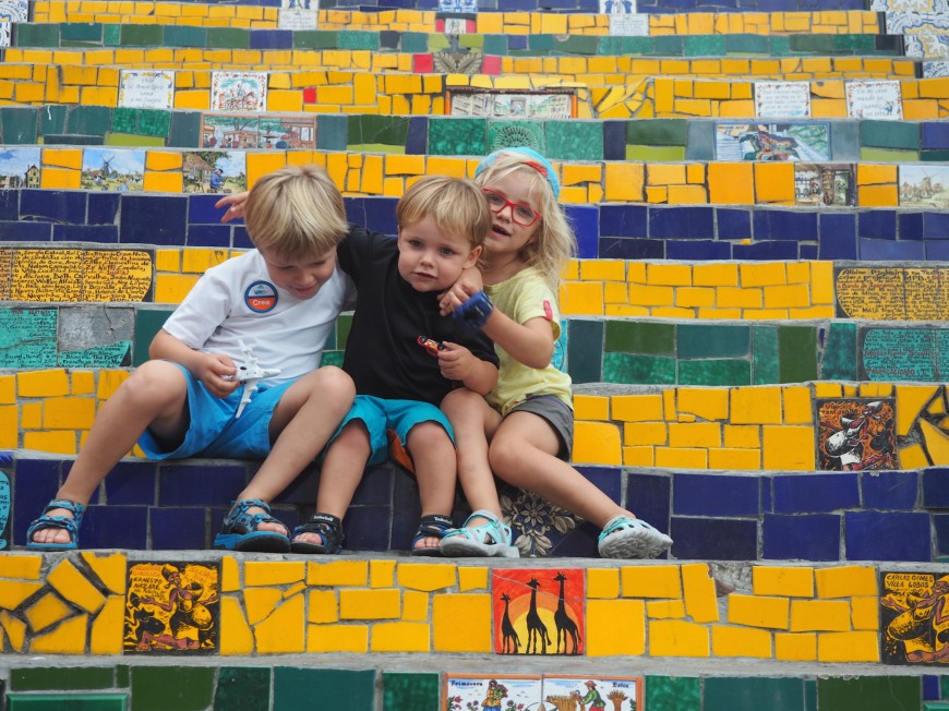escaliers lapa brésil rio